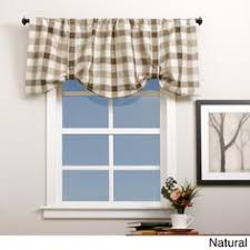 Button Valance Window Toppers Moire Plaid Lined Layered Button Valance Country