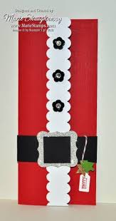 christmas door decorations santa s belly money holder by card shark cards and paper crafts