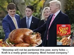 donald pardons turkey runs afowl of the the