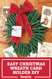 homemade christmas card holder u2013 holiday craft ideas on womansday com