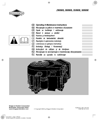 briggs u0026 stratton ms 5158 5 03 user manual 10 pages