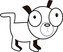 dog dawg black white art christmas xmas stuffed animal