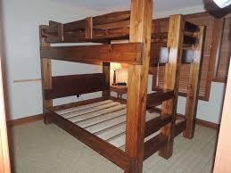Custom Bunk Beds TimberTenon Bunk Bed - Queen over queen bunk bed