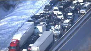 approximately 100 cars involved in crashes on pennsylvania