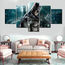modern home decor the witcher 3 wild hunt game poster print on 2016 real hot sale paintings 5 pcs frames wall art picture modern home decoration living room