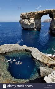 blue hole and the azure window gozo mediterranean sea malta