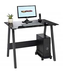 Compact Computer Desk Barbel Compact Black Glass Desk Piranha Trading