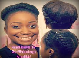 medium length hairstyle pictures easy natural hairstyles for short medium length natural hair