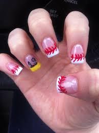 baseball nails with his number sports nail design nails