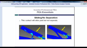 finite elements analysis training understanding contact types