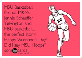 s day m m s msu basketball peanut m ms jennie schaeffer yelvington and msu
