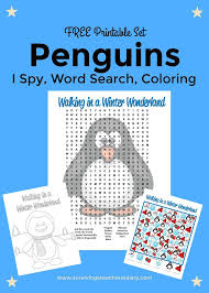 free printable penguins worksheets coloring sheet word search i
