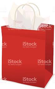present tissue paper gift bag with tissue paper stock vector more images of