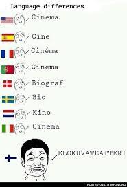 Different Languages Meme - littlefun cinema language differences