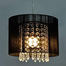 black crystal pendant light gracelove modern black brushed crystal chandeliers with 1 light led