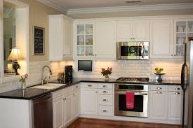 dark granite countertops with light cabinets kitchen paint colors