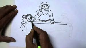 draw simple christmas scene