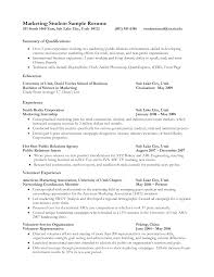 Example Resume For Students by Resume Samples For Jobs For Students