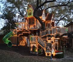 startling flocked christmas tree decorating ideas for exterior
