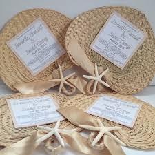 raffia fans palm leaf fans with ceremony program wedding fan favor