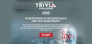 coors light cold hard facts win a stubhub gift card or other coors light prizes giftout free