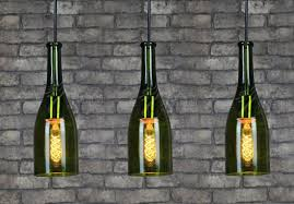 Wine Glass Pendant Light American Wine Bottle Pendant Light Bar Balcony Glass Pendant