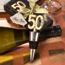 anniversary wine bottles 50th anniversary wine bottle stopper favors golden wedding