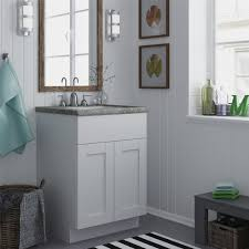 Narrow Depth Bathroom Vanity Cabinets by Altra White 24 Inch Shaker Style Bath Vanity Cabinet Ebay 15 Inch