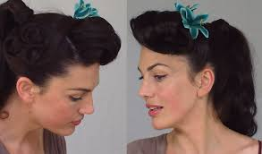 pin up ponytail easy u0026 practical vintage hairstyle youtube