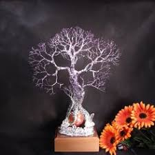 wire tree of family grove of 3 metal tree sculpture l with