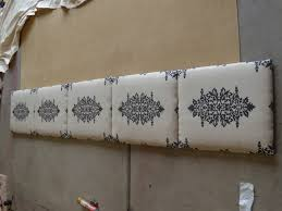 How To Make Headboard Tutorial How To Make A Fabric Headboard All Things Thrifty