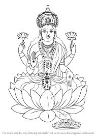 learn how to draw lakshmi mata hinduism step by step drawing