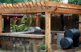 outdoor kitchen photos exterior contemporary with deck green egg