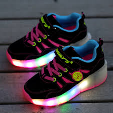 heelys light up shoes girls kids boys led light wheels shoes children shoes sneakers with