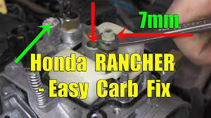 honda rancher fourtrax carburetor removal and cleaning youtube