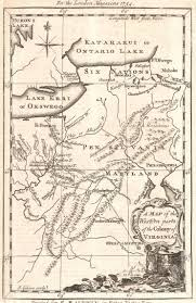 Map Of Counties In Pennsylvania by 1750 To 1754 Pennsylvania Maps