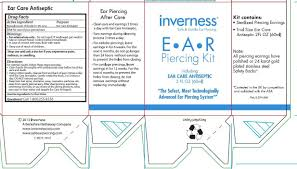 inverness earrings inverness ear care antiseptic solution inverness corp