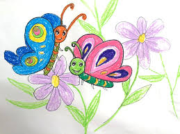 butterfly drawings for kids painting animals for kids how to