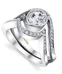 Engagement Ring With Wedding Band by Aurora Modern Engagement Ring By Mark Schneider Mark Schneider