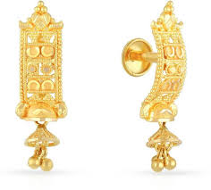 malabar earrings malabar gold and diamonds yellow gold 22kt drop earring price in
