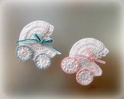 crochet baby carriage buggy stroller pram applique novelty
