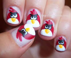 uñas con deseños angry bird uñas pinterest angry birds and