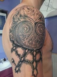 Owl Shoulder - owl for tattoos for