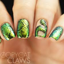copycat claws snake nail stamping with ilnp open fields
