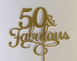 50th cake topper 50th cake topper etsy