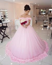 dresses for a quinceanera flowers pink quinceanera dresses shoulder gowns cheap