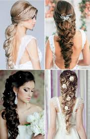 bridal hairstyles for long hair western amp indian bridal