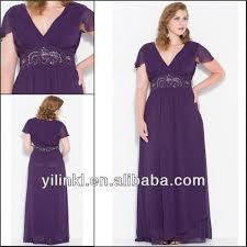 plus size bridesmaid dresses aliexpress buy purple color v neck sleeve plus