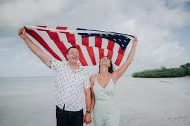 Key West Flag Key West Engagement Session Marvin Key Key West