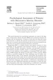 psychological assessment of patients with dissociative identity